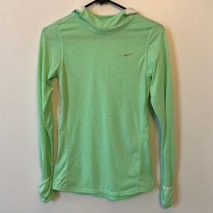 NIKE Dri-fit Long Sleeve Shirt with Hood